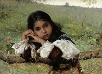 Moments of Thoughtfulness by Charles Sprague Pearce