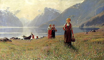 A Summer's Day by Hans Dahl