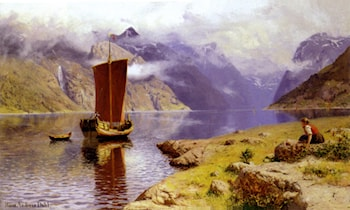 Awaiting his Return by Hans Dahl