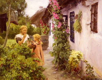The Cottage Garden by Hans Anderson Brendekilde