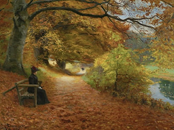 A Wooded Path In Autumn by Hans Anderson Brendekilde