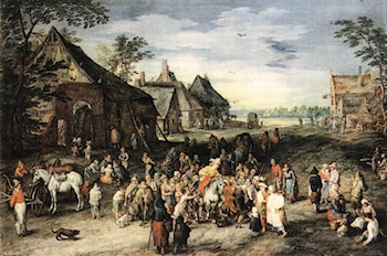 St Martin by Jan the elder Brueghel