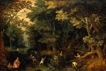 Latona and the Lycian Peasants by Jan the elder Brueghel