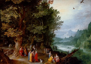 Saint John Preaching In The Wilderness by Jan the elder Brueghel