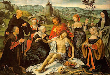 Altarpiece of the Lamentation (central) by Joos van Cleve