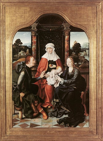 St Anne with the Virgin and Child and St Joachim by Joos van Cleve