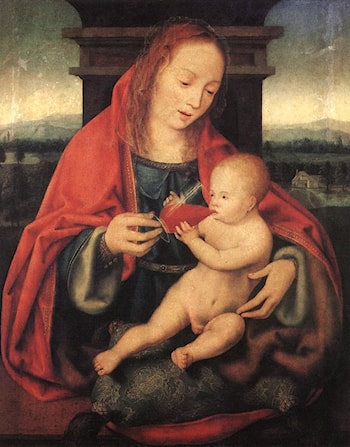 Virgin and Child by Joos van Cleve