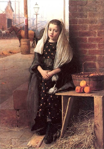 The Little Orange Girl by Seymour Joseph Guy