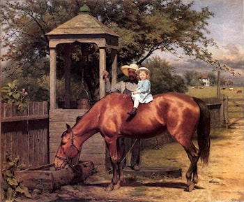 Equestrian portrait by Seymour Joseph Guy