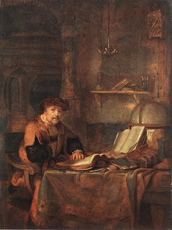 Scholar with his Books by Gerbrand van den Eeckhout