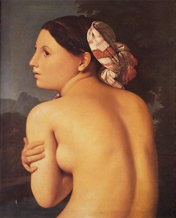 Half­figure of a Bather by Jean Auguste Dominique Ingres