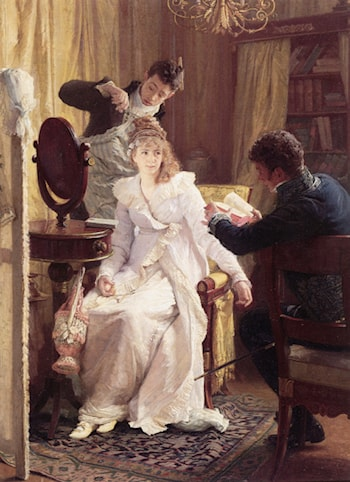 Preparing for the Ball by Franz Xaver Simm