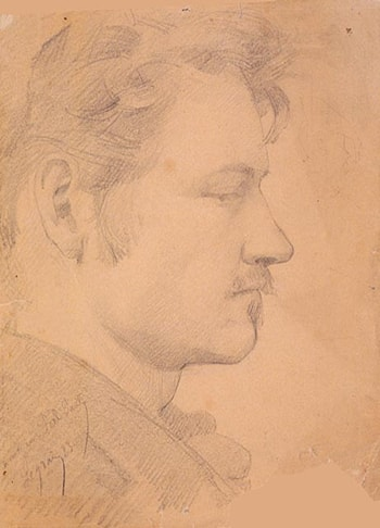 Portrait of Paul Peel by Paul Peel