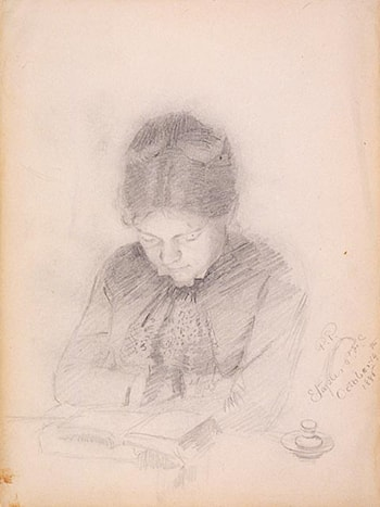 Portrait of the Artist's Wife by Paul Peel