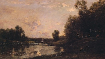 A June Day by Charles-Francois Daubigny