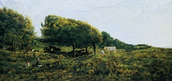 Paysage a Villerville by Charles-Francois Daubigny