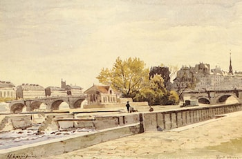 Pont Neuf, Paris by Henri-Joseph Harpignies