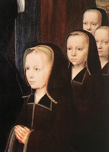 Triptych of Jean Des Trompes ­ detail by Gerard David