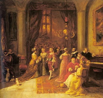 The Cardinal's Reception by Eugene Isabey