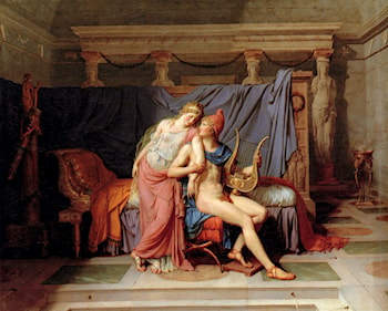 The Courtship of Paris and Helen by Jacques-Louis David