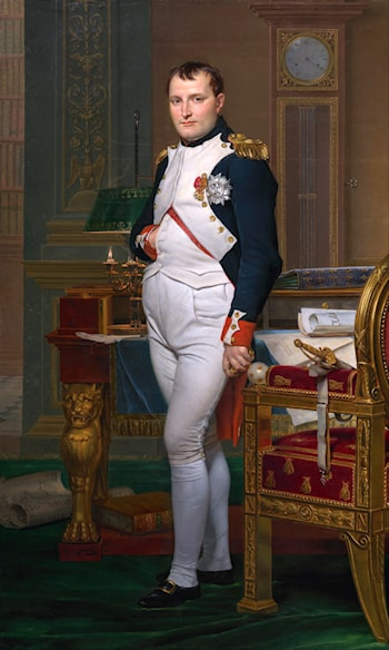 Napoleon in his Study by Jacques-Louis David