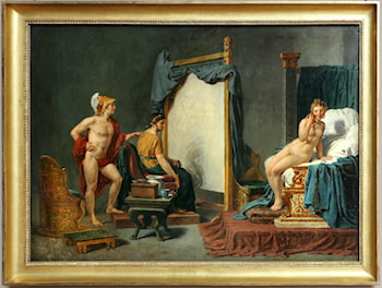 Apelles Painting Campaspe in the Presence of Alexander the Great by Jacques-Louis David
