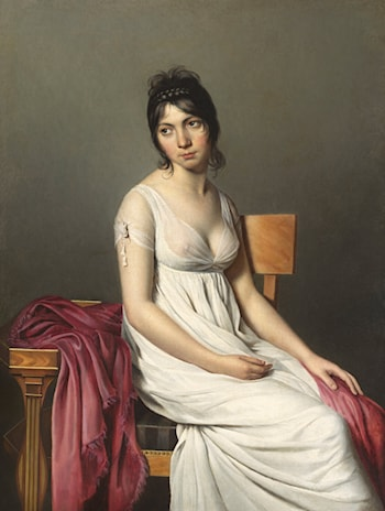 Portrait of a Young Woman in White by Jacques-Louis David