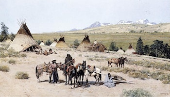 Indian Encampment by Henry Farny