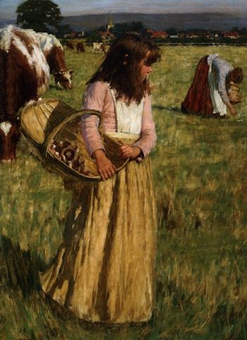 The Mushroom Gatherers by Henry Herbert La Thangue