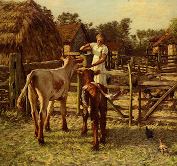 Sussex Farm by Henry Herbert La Thangue