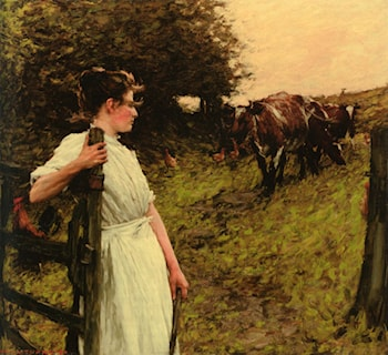 Back from the Common Heyshott, West Sussex by Henry Herbert La Thangue