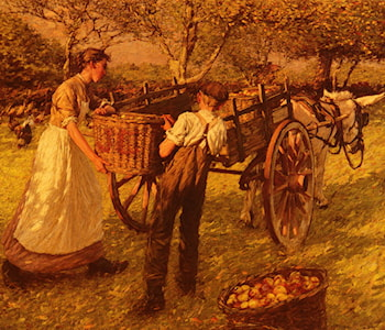 A Sussex Orchard by Henry Herbert La Thangue