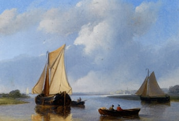 Shipping in a Calm by Petrus Jan Schotel