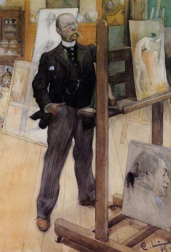 Self Portrait by Carl Larsson