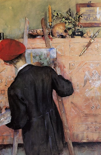 The Still Life Painter by Carl Larsson