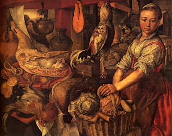 Interior of a Kitchen by Joachim Beuckelaer