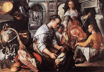 Christ in the House of Martha and Mary by Joachim Beuckelaer