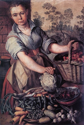 Vegetable Seller by Joachim Beuckelaer