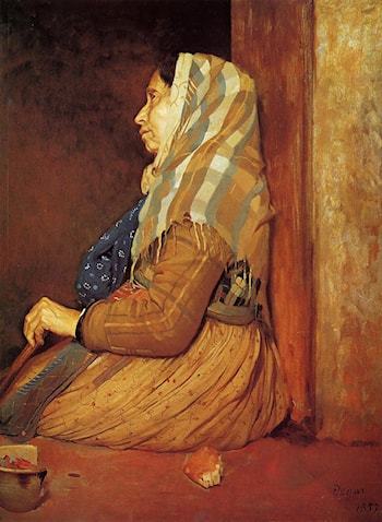 A Roman Beggar Woman by Edgar Degas