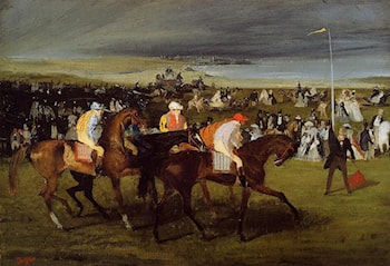At the Races: the Start by Edgar Degas