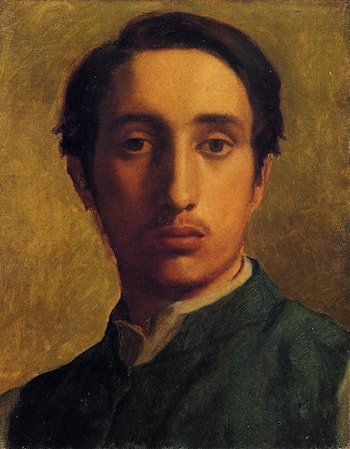 Degas in a Green Jacket by Edgar Degas