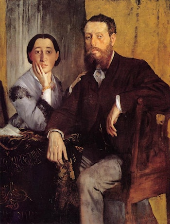 Edmond and Therese Morbilli by Edgar Degas