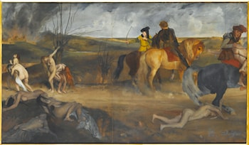 Scene of War in the Middle Ages by Edgar Degas