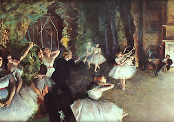 Rehearsal on the Stage by Edgar Degas