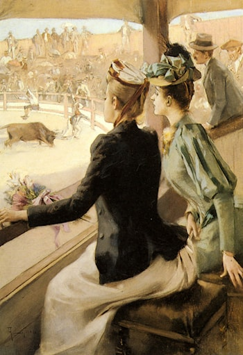 At the Bullfight by Albert Lynch