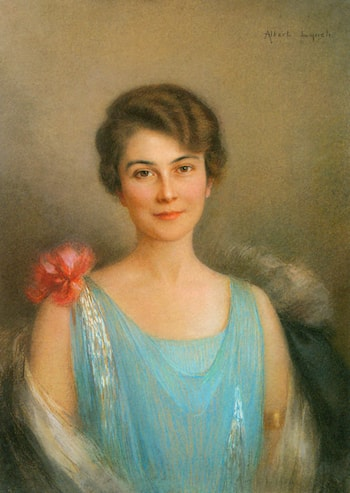 A Portrait of a Lady in Blue by Albert Lynch