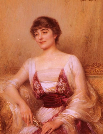 A Lady with a Fan by Albert Lynch