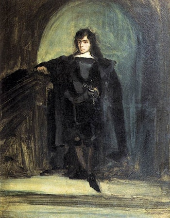 Self­Portrait as Ravenswood by Eugene Delacroix