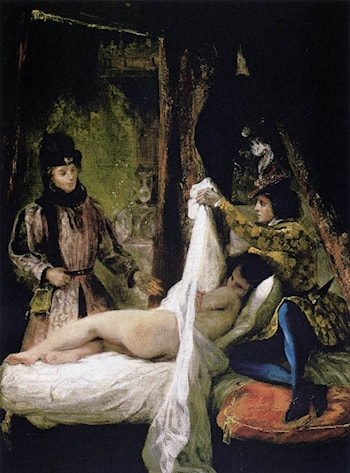Louis d'Orléans Showing his Mistress by Eugene Delacroix