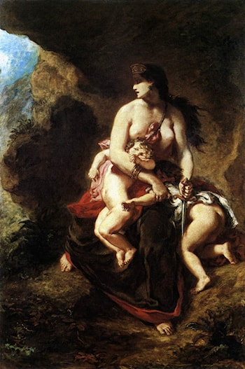 Medea about to Kill her Children by Eugene Delacroix
